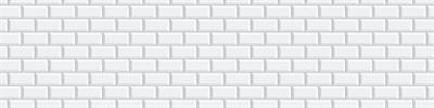 Фартук для кухни «Белая классическая плитка» - фото 15209